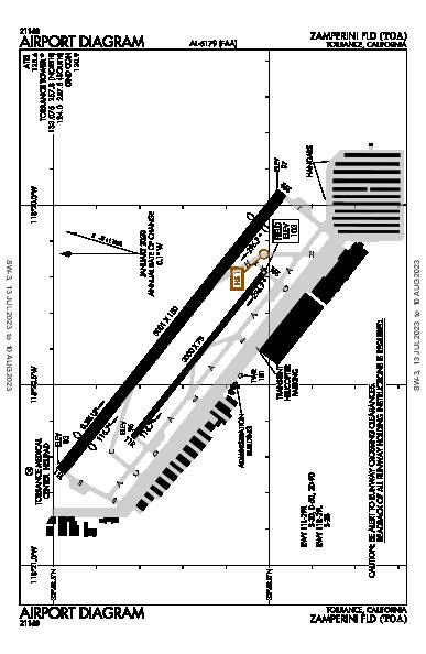 Zamperini Field Airport (Torrance, CA): KTOA Airport Diagram