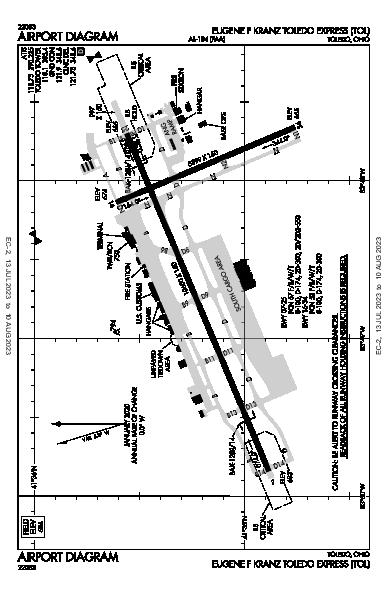 Eugene F Kranz Toledo Express Airport (Toledo, OH): KTOL Airport Diagram