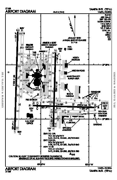 Tampa Intl Airport (Tampa, FL): KTPA Airport Diagram