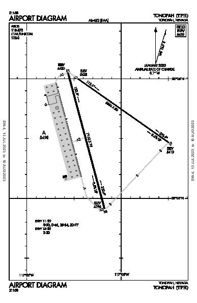 Tonopah Airport (Tonopah, NV): KTPH Airport Diagram