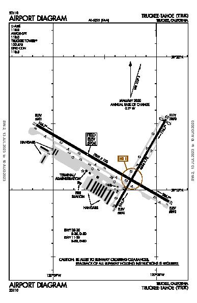 Truckee-Tahoe Airport (Truckee, CA): KTRK Airport Diagram