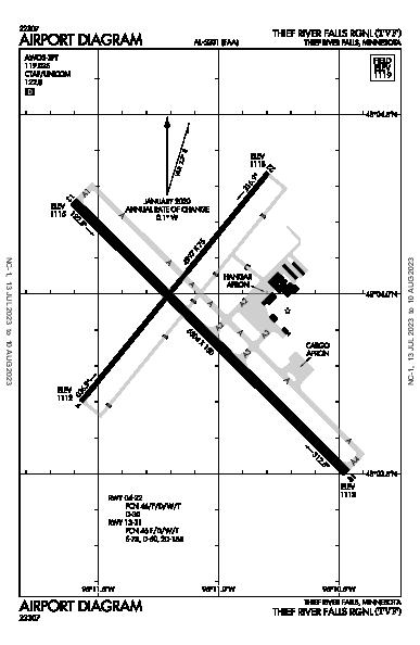 Thief River Falls Rgnl Airport (Thief River Falls, MN): KTVF Airport Diagram