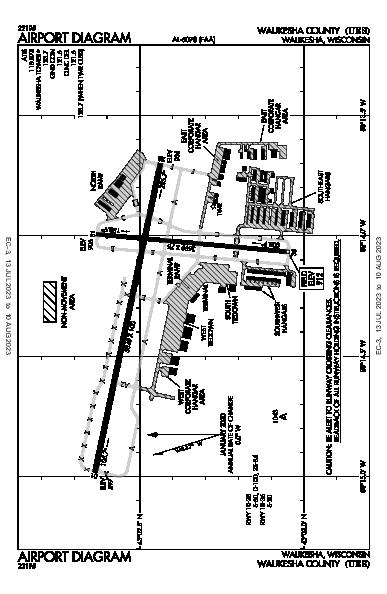 Waukesha County Airport (Waukesha, WI): KUES Airport Diagram