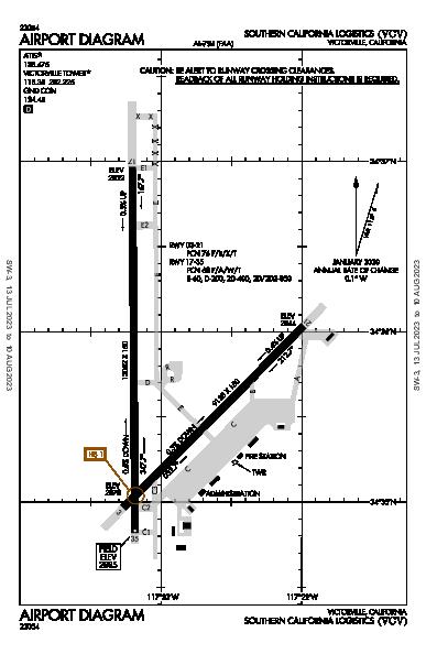 So California Logistics Airport (Victorville, CA): KVCV Airport Diagram