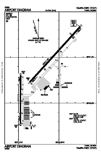 Tampa Executive Airport (Tampa, FL): KVDF Airport Diagram