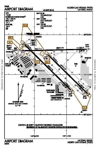 North Las Vegas Airport (Las Vegas, NV): KVGT Airport Diagram