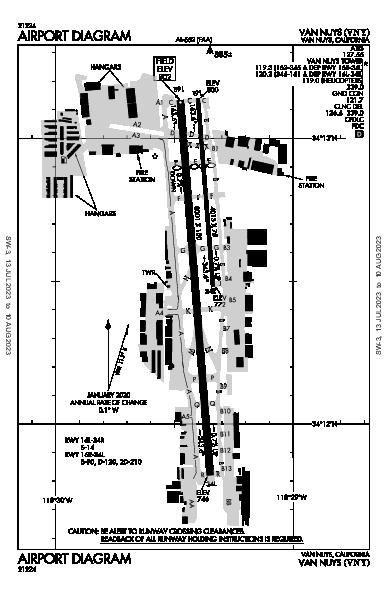 Van Nuys Airport (Van Nuys, CA): KVNY Airport Diagram