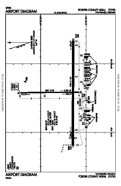 Porter County Rgnl Airport (Valparaiso, IN): KVPZ Airport Diagram