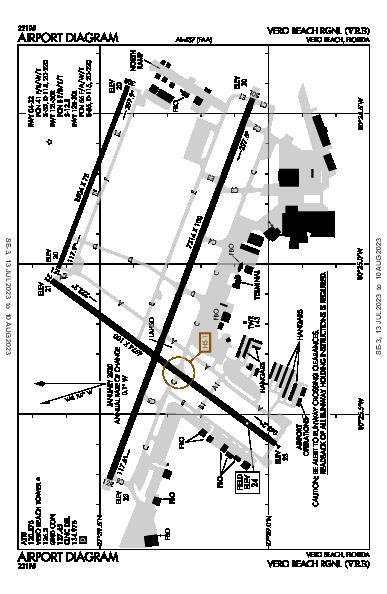 Vero Beach Muni Airport (Vero Beach Regional Airport, FL): KVRB Airport Diagram