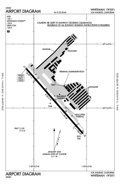 Whiteman Airport (Los Angeles, CA): KWHP Airport Diagram