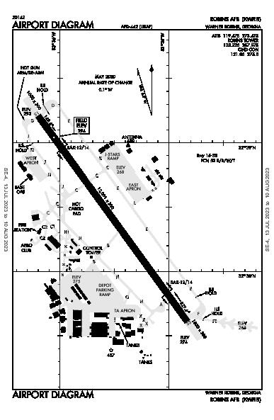 Robins Afb Airport (Warner Robins, GA): KWRB Airport Diagram