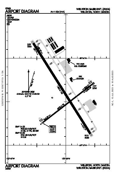 Williston Basin International Airport Airport (Williston, ND): KXWA Airport Diagram