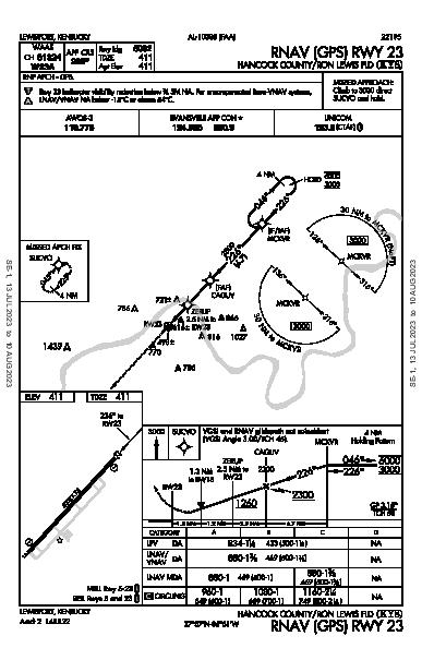 Hancock County/Ron Lewis Fld Lewisport, KY (KY8): RNAV (GPS) RWY 23 (IAP)