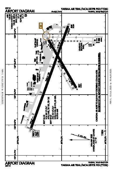 Yakima Air Terminal  Airport (Yakima, WA): KYKM Airport Diagram