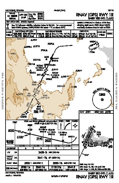 Harry Reid Intl Las Vegas, NV (KLAS): RNAV (GPS) RWY 01R (IAP)