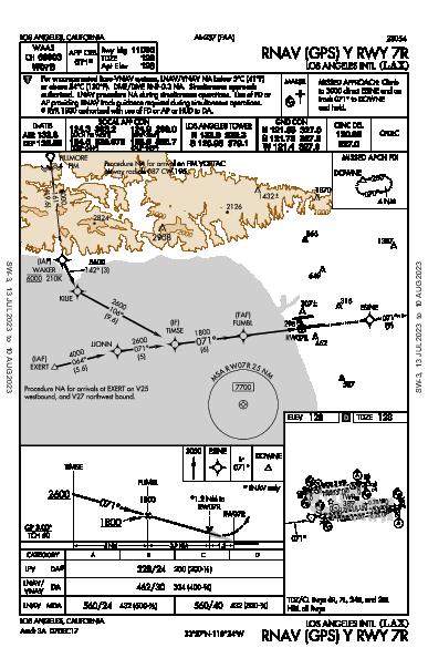 Int'l de Los Angeles Los Angeles, CA (KLAX): RNAV (GPS) Y RWY 07R (IAP)