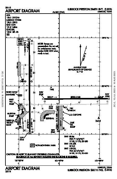 Lubbock Smith Intl Lubbock, TX (KLBB): AIRPORT DIAGRAM (APD)