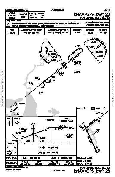 Lake Charles Rgnl Lake Charles, LA (KLCH): RNAV (GPS) RWY 23 (IAP)