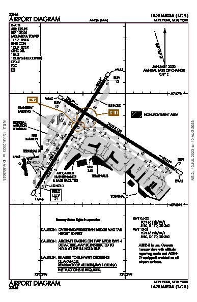 LaGuardia New York, NY (KLGA): AIRPORT DIAGRAM (APD)
