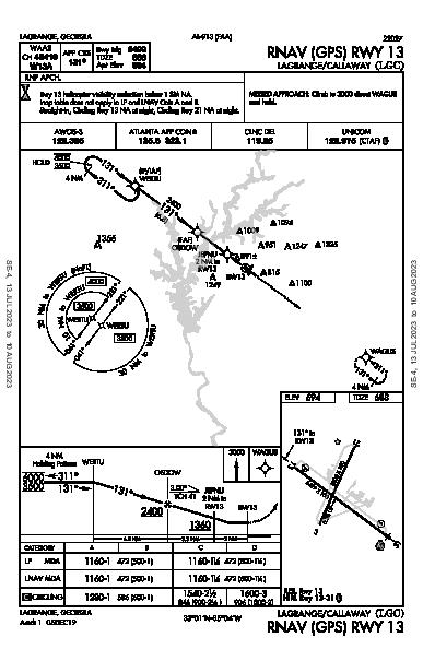 Lagrange-Callaway Lagrange, GA (KLGC): RNAV (GPS) RWY 13 (IAP)