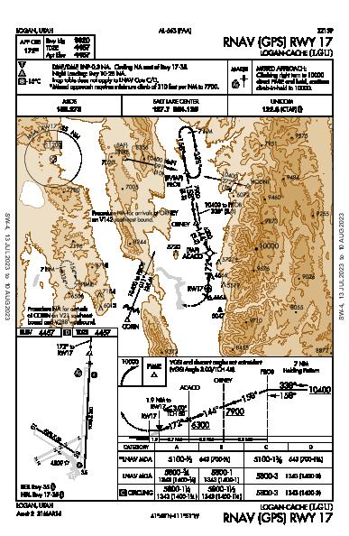 Logan-Cache Logan, UT (KLGU): RNAV (GPS) RWY 17 (IAP)