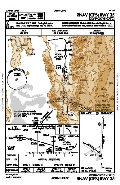 Logan-Cache Logan, UT (KLGU): RNAV (GPS) RWY 35 (IAP)