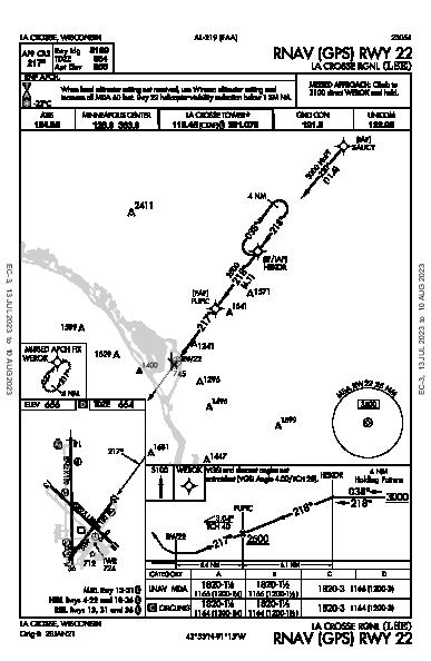 La Crosse Rgnl La Crosse, WI (KLSE): RNAV (GPS) RWY 22 (IAP)