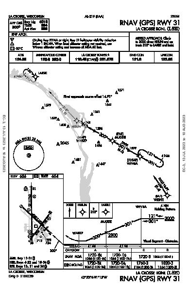 La Crosse Rgnl La Crosse, WI (KLSE): RNAV (GPS) RWY 31 (IAP)