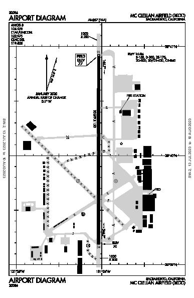 Sacramento McClellan Sacramento, CA (KMCC): AIRPORT DIAGRAM (APD)