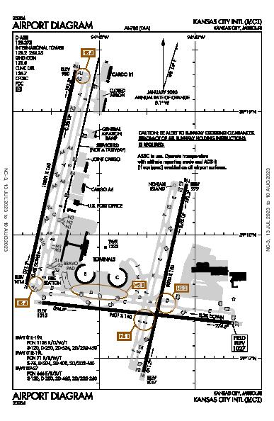 Kansas City Intl Kansas City, MO (KMCI): AIRPORT DIAGRAM (APD)
