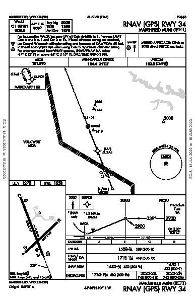 Marshfield Muni Marshfield, WI (KMFI): RNAV (GPS) RWY 34 (IAP)