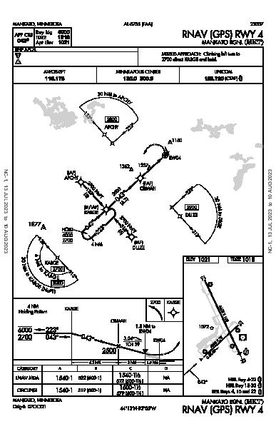 Mankato Rgnl Mankato, MN (KMKT): RNAV (GPS) RWY 04 (IAP)