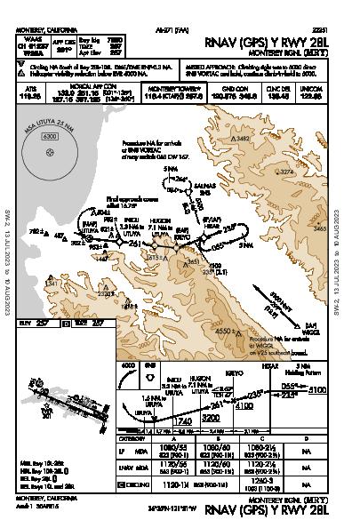 Monterey Rgnl Monterey, CA (KMRY): RNAV (GPS) Y RWY 28L (IAP)