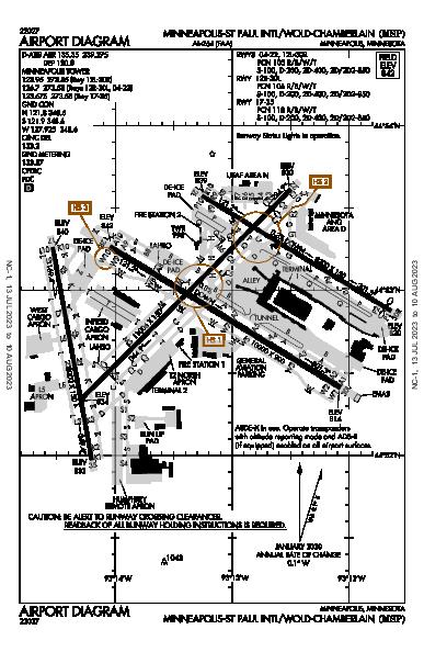 Minneapolis/St Paul Intl Minneapolis, MN (KMSP): AIRPORT DIAGRAM (APD)