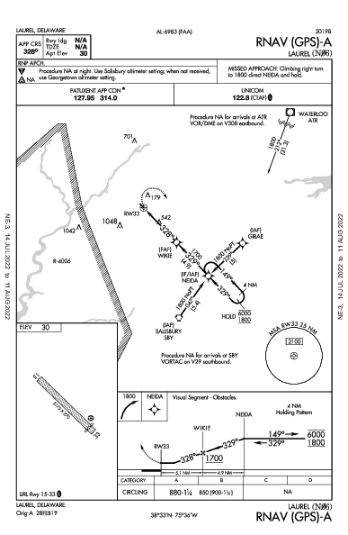 Laurel Laurel, DE (N06): RNAV (GPS)-A (IAP)