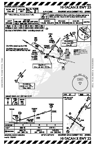 Beaufort Beaufort, SC (KNBC): HI-TACAN X RWY 23 (IAP)