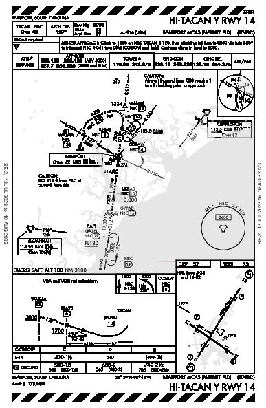 Beaufort Beaufort, SC (KNBC): HI-TACAN Y RWY 14 (IAP)