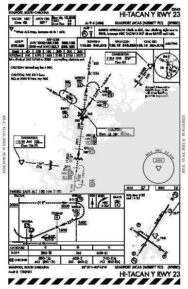 Beaufort Beaufort, SC (KNBC): HI-TACAN Y RWY 23 (IAP)