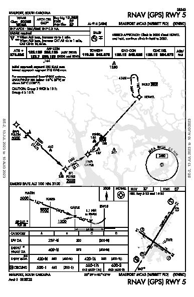 Beaufort Beaufort, SC (KNBC): RNAV (GPS) RWY 05 (IAP)