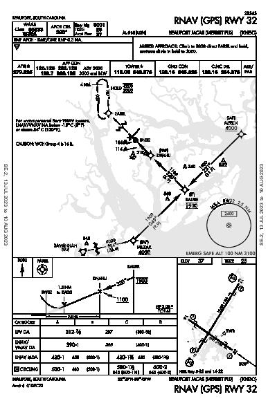 Beaufort Beaufort, SC (KNBC): RNAV (GPS) RWY 32 (IAP)