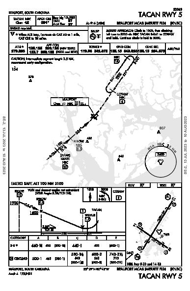 Beaufort Beaufort, SC (KNBC): TACAN RWY 05 (IAP)