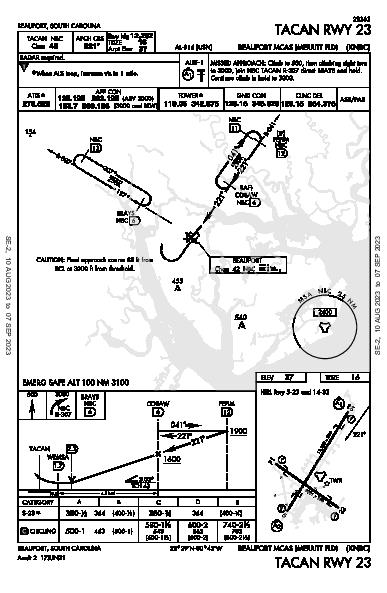 Beaufort Beaufort, SC (KNBC): TACAN RWY 23 (IAP)