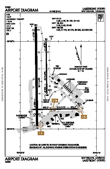 Lakefront New Orleans, LA (KNEW): AIRPORT DIAGRAM (APD)