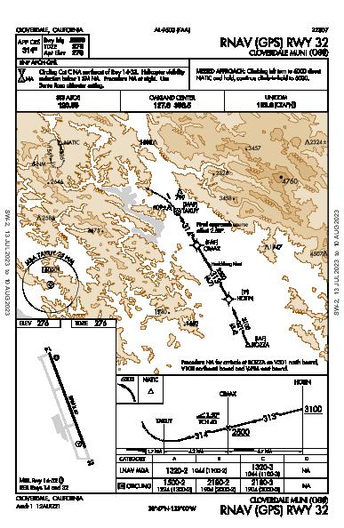 Cloverdale Muni Cloverdale, CA (O60): RNAV (GPS) RWY 32 (IAP)