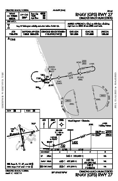 Ormond Beach Muni Ormond Beach, FL (KOMN): RNAV (GPS) RWY 27 (IAP)