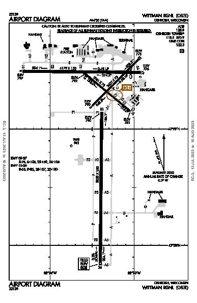 Wittman Rgnl Oshkosh, WI (KOSH): AIRPORT DIAGRAM (APD)