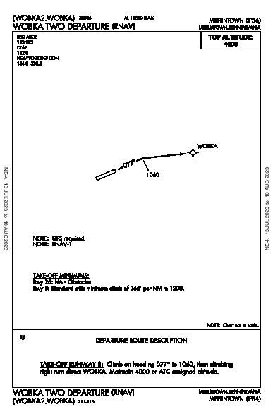 Mifflintown Mifflintown, PA (P34): WOBKA TWO (RNAV) (DP)