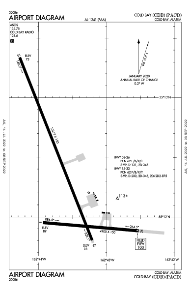 Cold Bay Airport (Cold Bay, AK): PACD Airport Diagram