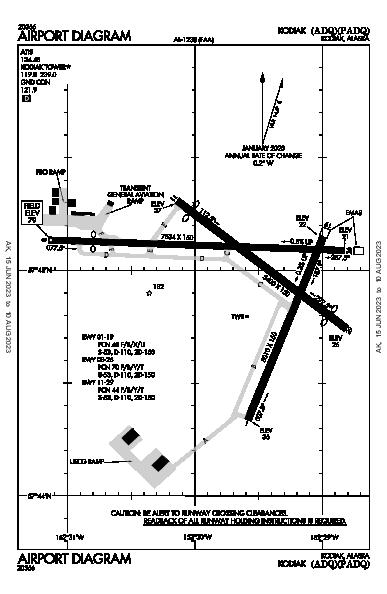 Kodiak Airport (Kodiak, AK): PADQ Airport Diagram