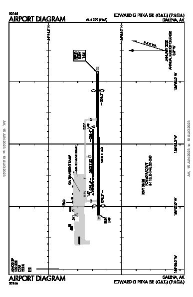 Edward G Pitka Sr Airport (Galena, AK): PAGA Airport Diagram